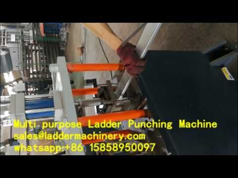 5 work station punching machine with 6 moulds for multi purpose ladders.