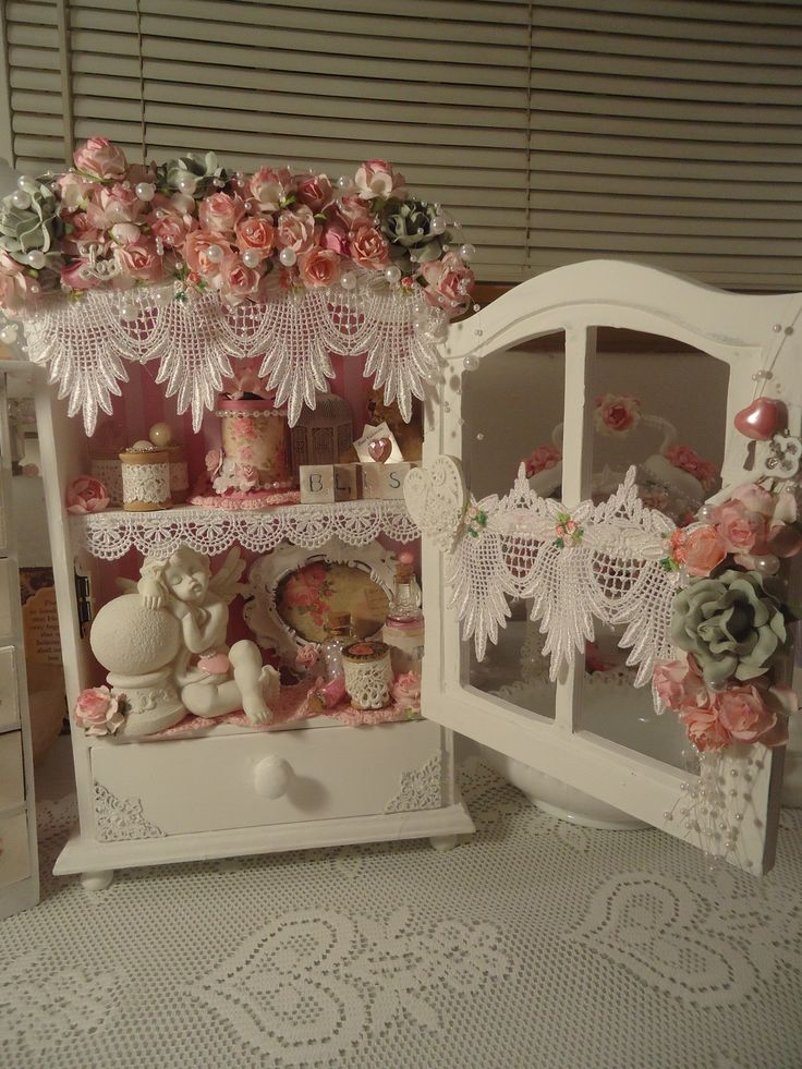 Decor idea to create on his window frames along with ANGEL Wings across the tops `shabby decor