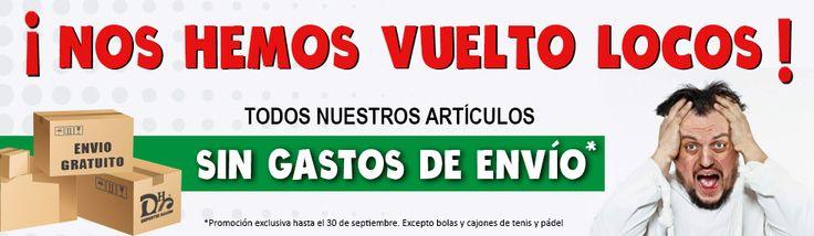 ¡Nos hemos vuelto locos! Ahora en nuestra tienda online, ¡¡TODOS nuestros productos con ENVÍO #GRATIS*!!  Ahora ya si que no tienes excusa...  http://bit.ly/TiendaOnline-DH