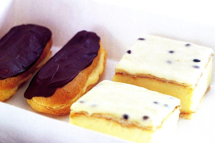 Eclaires & Vanilla Slice