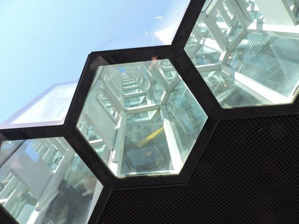"""Paul Berry on Twitter: """"@aknill Saw these hexagons at the Harpa Concert Hall in Reykjavik and thought of you .... #solotaxonomy https://t.co/s8Qahu3Txy"""""""