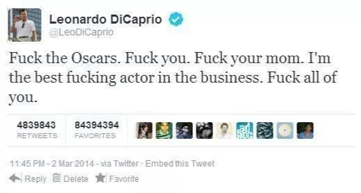 Leonaro DiCaprio Tweet - Oscars 2014: What Went Viral | Features | Empire