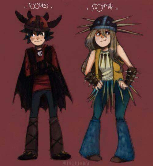 Human versions of Toothless and Stormfly ^_^ ^.^ ♡ I give good credit to whoever…