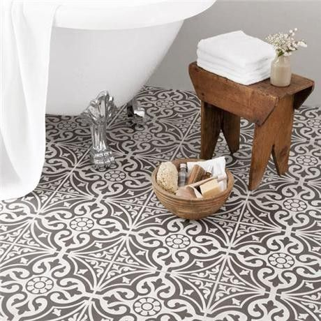 black and white marrocan style bathroom floor tiles google search - Bathroom Tile Ideas Black And White