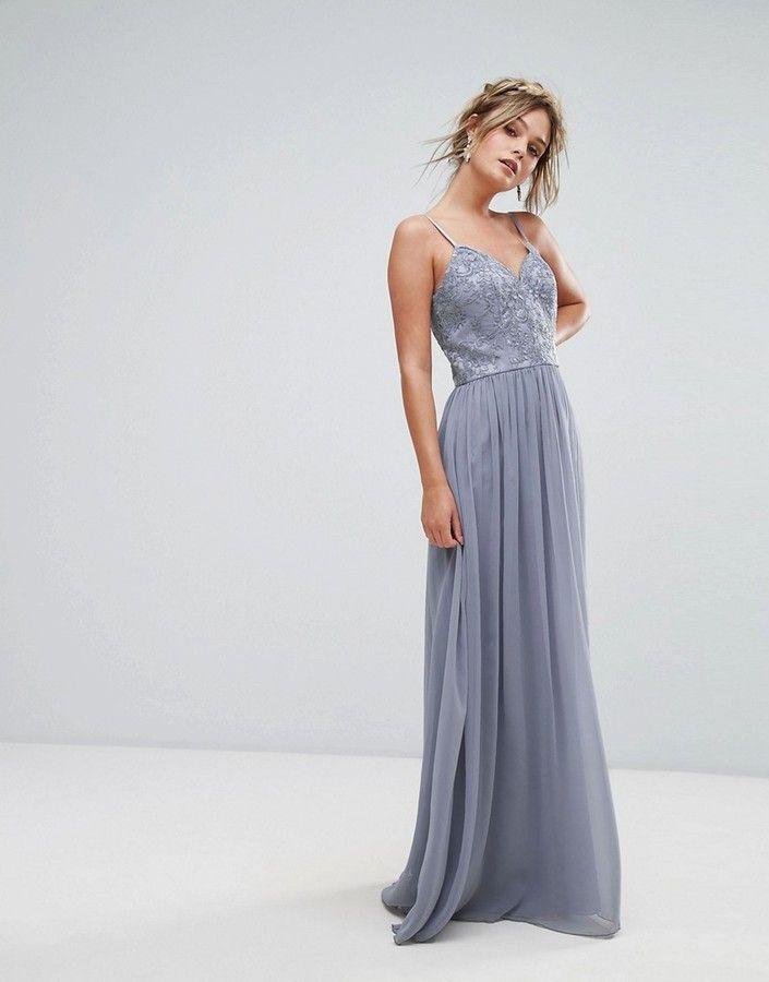 Chi Chi London Cami Strap Maxi Dress with Premium Lace at Asos  #affiliatelink