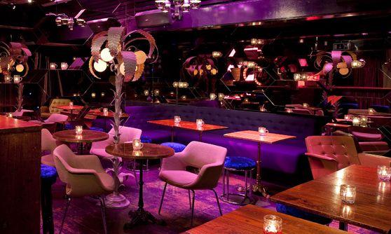 Callooh Callay 65 Rivington Street, London EC2  Voted 9th best bar in the world, you enter through a giant wardrobe, narnia-style!