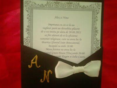 Despre invitatii si altele: Invitatie nunta model 17