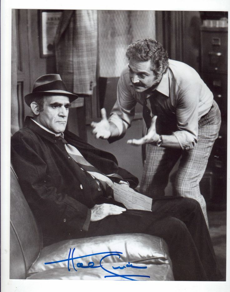Hal Linden of Barney Miller seen with Abe Vigoda, Fish. I thought this show was hilarious