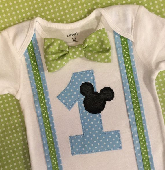Baby Mickey Mouse 1st Birthday Outfit Baby by HomeArtsBoerne