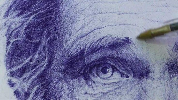 Retrato dibujo bolígrafo # 2 - HD                                                                                                                                                                                 Más