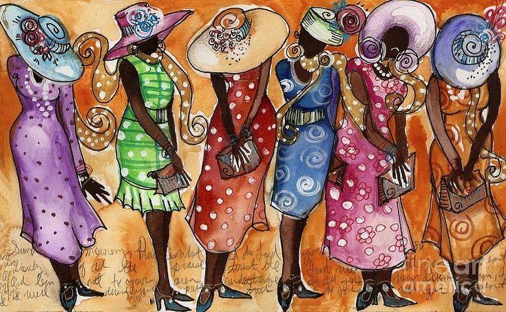 "Sunday Best | Art Image of women wearing their ""church"" hats......"