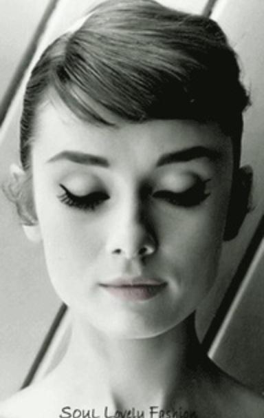 Audrey Hepburn's short bangs