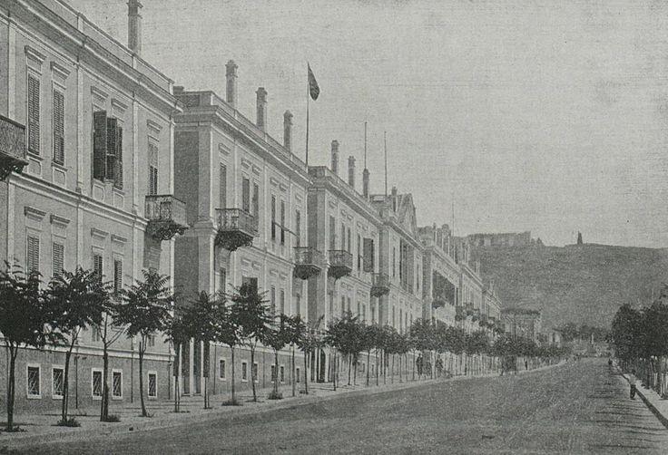 [Ottoman Empire] Salonica, Hamidiye Street, 1895 (Thessaloniki / Greece) (Osmanlı Selanik'i, Hamidiye Caddesi, 1895)