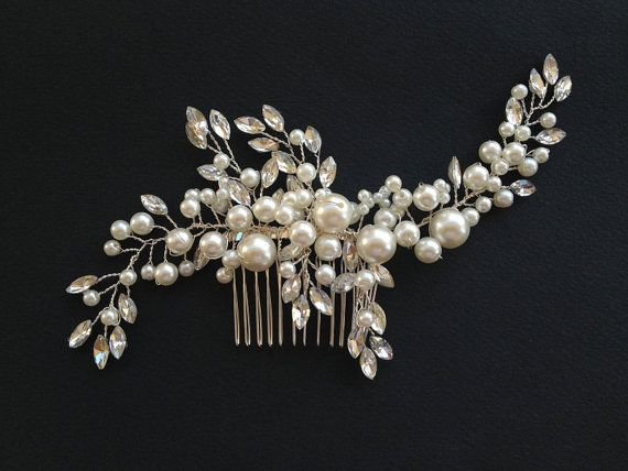 Handmade Pearl Wedding Headband Bridal Hair Band by venusshop