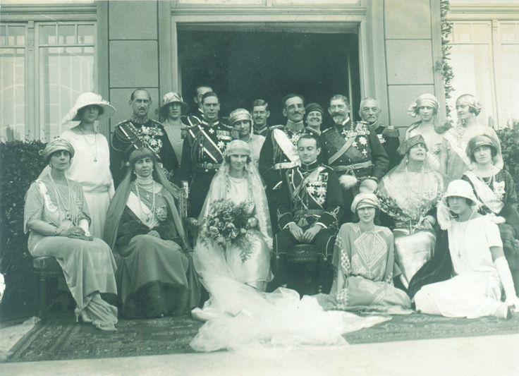 Wedding Princess Olga of Greece and Prince Paul of Yugoslavia, 1923.