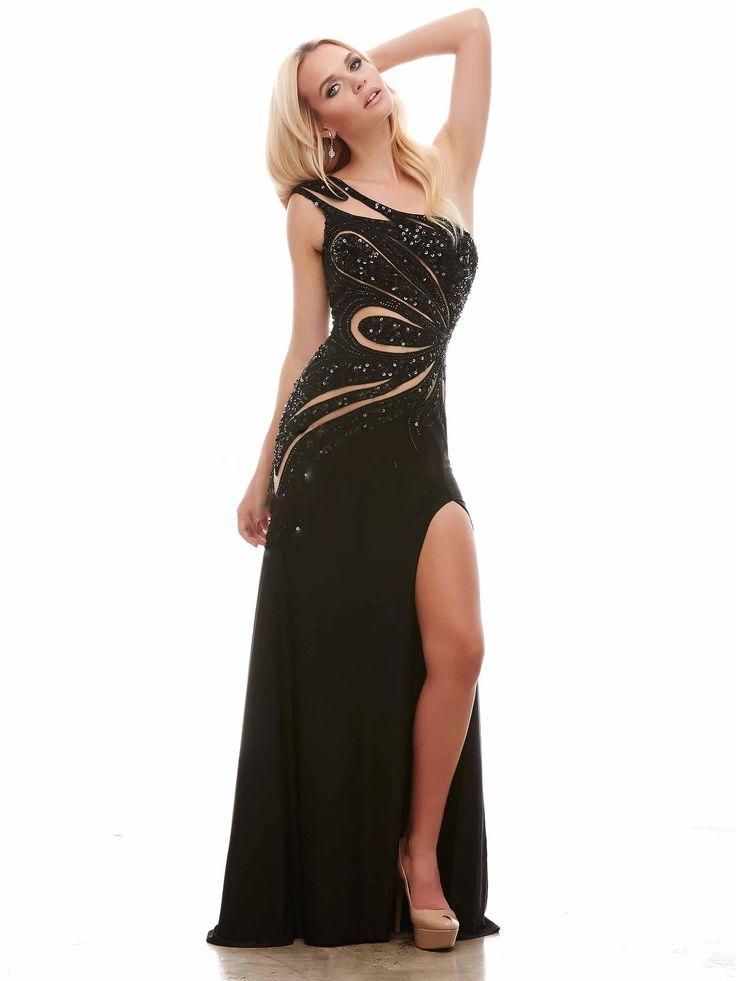 #longdress #blackdress / Klasyka w nowoczesnej formie - czarna suknia wieczorowa