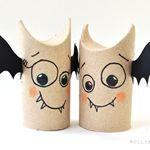 5 min toilet paper roll bat buddies (halloween craft)   Recyclart