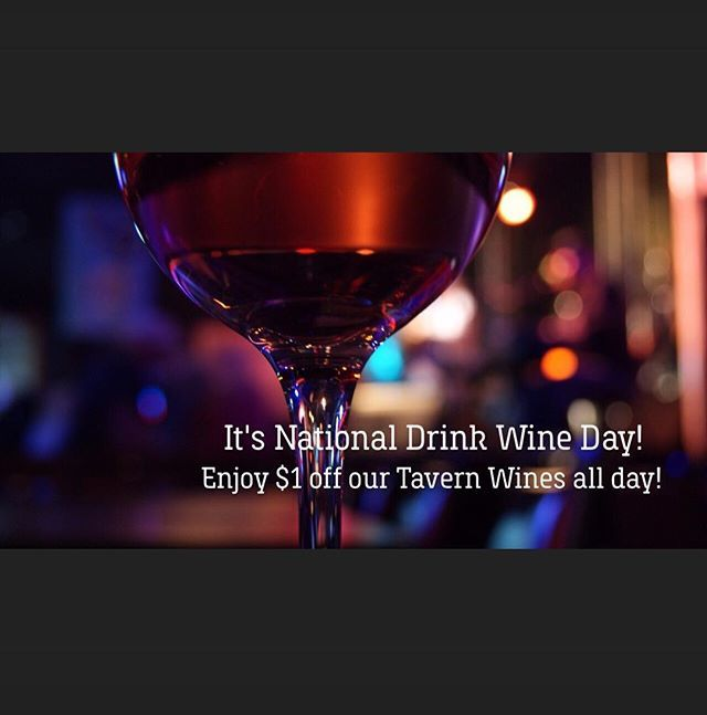 Happy #nationaldrinkwineday  Stop by Silence Dogood's for $1 off of our Tavern Wines -Pinot Grigio, Chardonnay, and Montepulciano all day! # #silencedogoods #oldcity #philly #drinkwine #phillybars #oldcityphilly