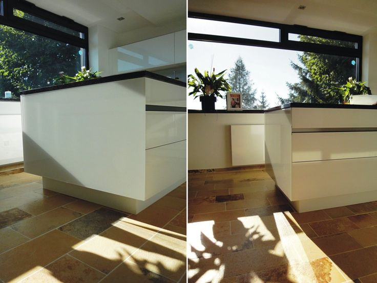lichtdurchflutete, helle Küche von krumhuber.design  http://krumhuber-design.at/design/kueche