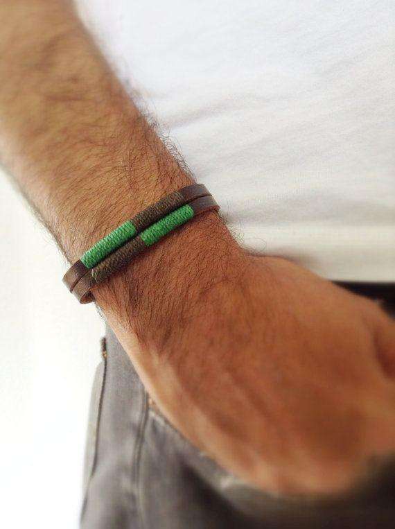 Leather men's bracelet Bohemian Leather Bracelet by Sifrimania, $18.00