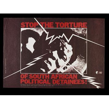 Poster - Stop the Torture of South African Political Detainees!