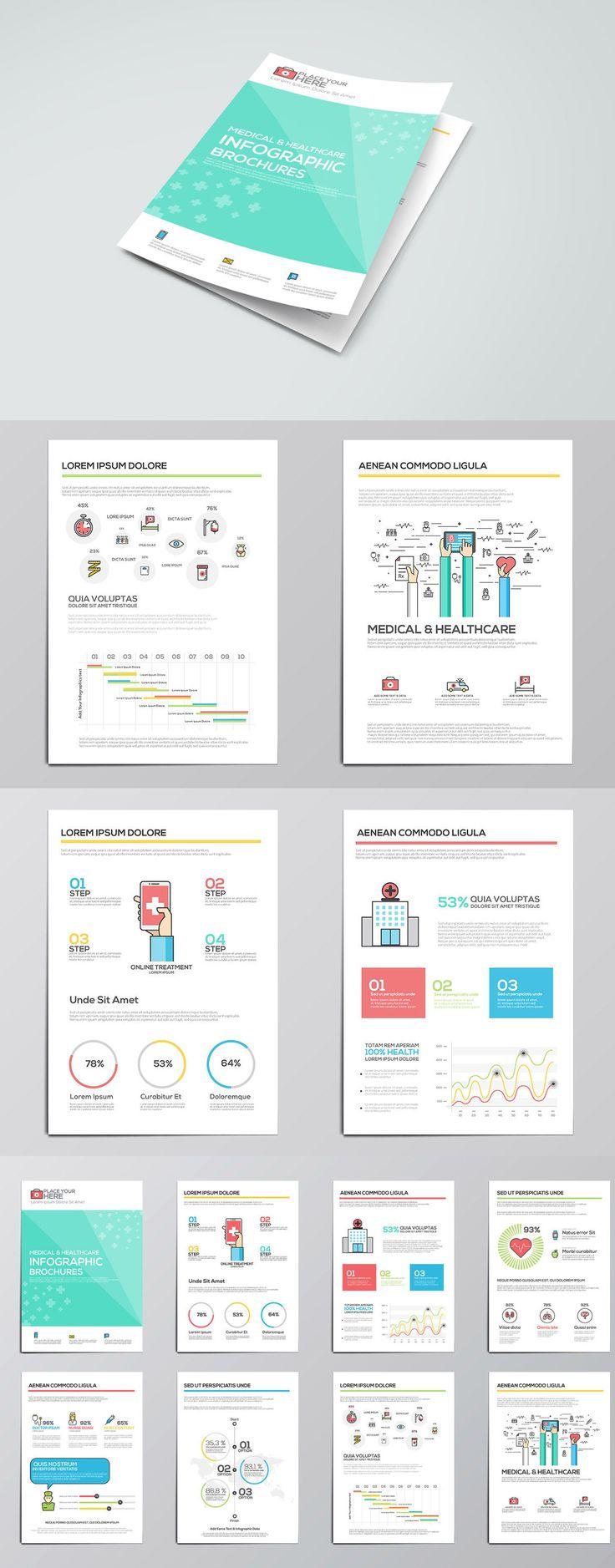 Medical Infographics Elements For Brochures