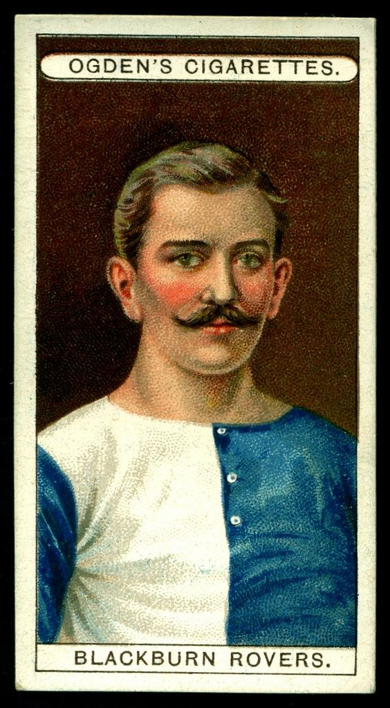 "https://flic.kr/p/rtPEHc | Cigarette Card - Blackburn Rovers | Ogden's Cigarettes ""Football Club Colours"" (series of 50 issued in 1906) #27 Blackburn Rovers"