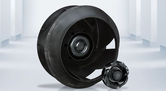 Centrifugal fans with backward-curved blades