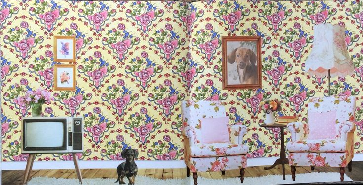 Wallpaper Book. The Year is 1980. Coloured by Prue.