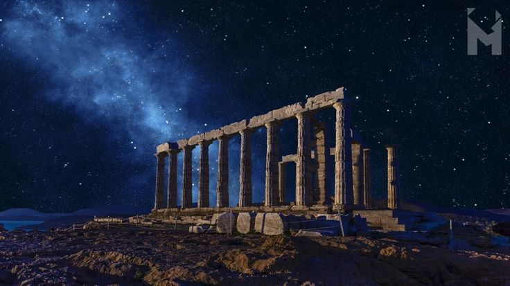 Welcome, September! 🍇  The breathtaking coastal location of Cape Sounion that hovers between sea and sky in southern Attica was a perfect spot for the majestic Temple of Poseidon, the mighty god of the sea. 🌊🌊🌊 - Built in 444 BCE at the edge of sheer cliffs, overlooking the Aegean Sea, the peripteral marble temple of the Doric order has served as a landmark for sailors from ancient times. #MentorinGreece