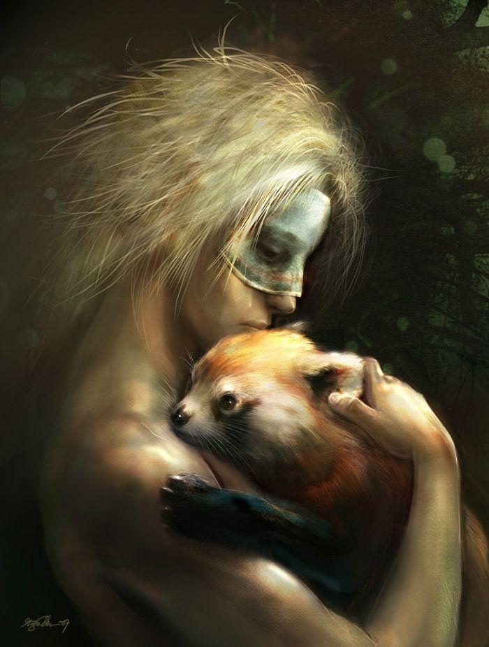 Golden panda by Kirsi Salonen