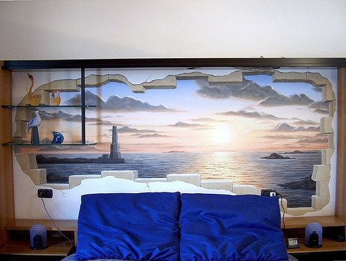 53 best trompe l 39 oeil my works images on pinterest - Parete testata letto dipinta ...