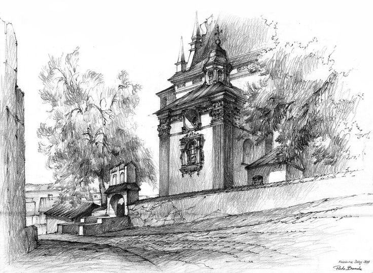 Another drawing from Kazimierz Dolny (Poland) 40x60cm, pencils