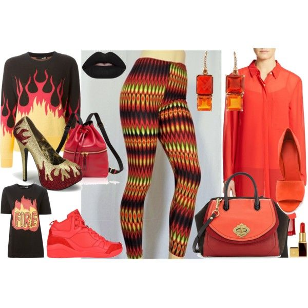 "RE-PIN this if you love ""Inferno"" by lisamarie-costanzo-420bliss on Polyvore Feeling hot hot HOT! Here are a few ideas for looks to wear with Inferno. Find them at http://www.mybuskins.com/#420bliss... #420bliss #mybuskins #buskins #leggings #comfy #soft #inferno #fire #flames #red #orange #lime #green #black"