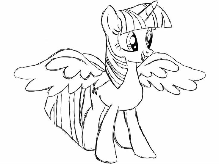 Http Colorings Co My Little Pony Coloring Pages Princess Twilight Sparkle Alicorn Dibujos Dibujos Para Colorear Colores