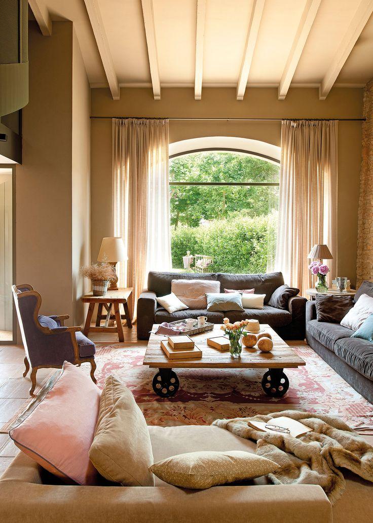 29 best cortinas y estores images on pinterest dining - Cortinas salon rustico ...