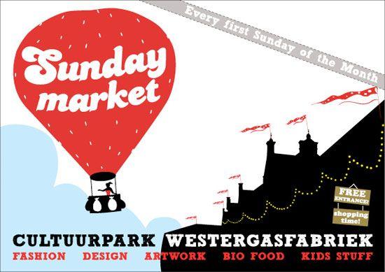 Sunday Market Amsterdam.