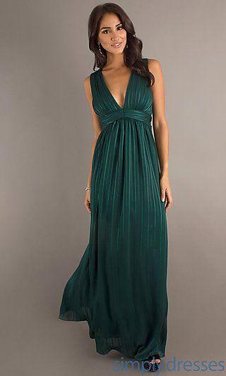 Long Low V-Neck Dress at SimplyDresses.com