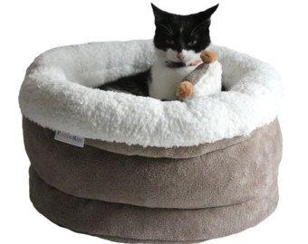 Diseño gatos, gatos, gatos cesta cesta OSO POLAR cestas, cestas de gatos, la cama del gato, gato casa, poezenbed, cama del animal doméstico, pequeño perro cesta