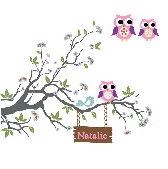 Kids Wall Decals Nursery Branch Tree Decal with by NurseryWallArt, $56.00