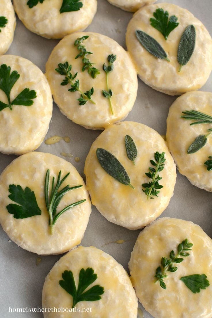 Thanksgiving bounty.....sage and herb laminated biscuits
