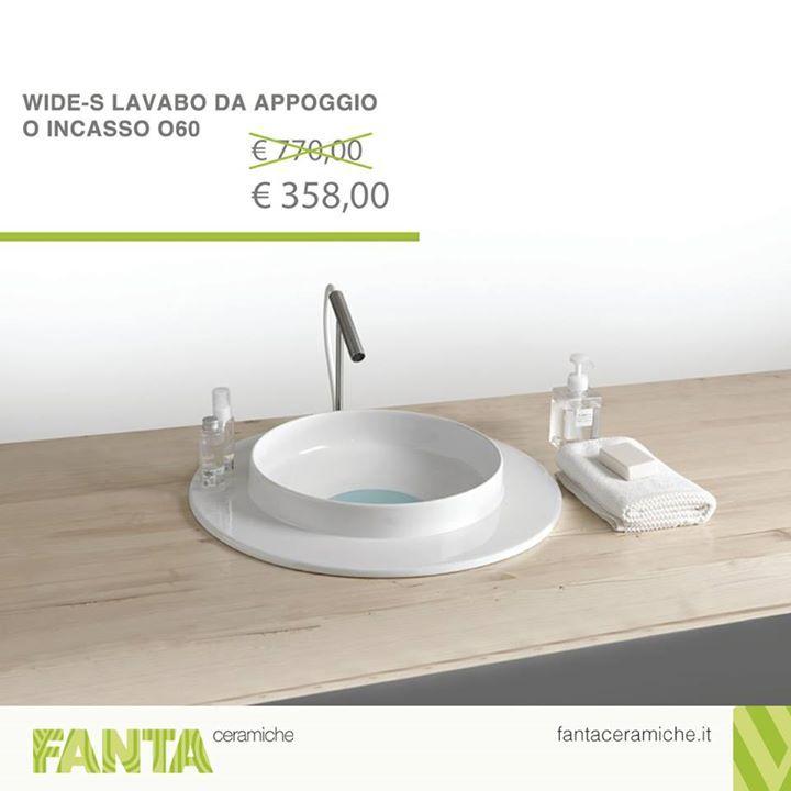 #OffertaDellaSettimana  Lavabo da appoggio in ceramica color bianco lucido.   http://ift.tt/2ifXx3F