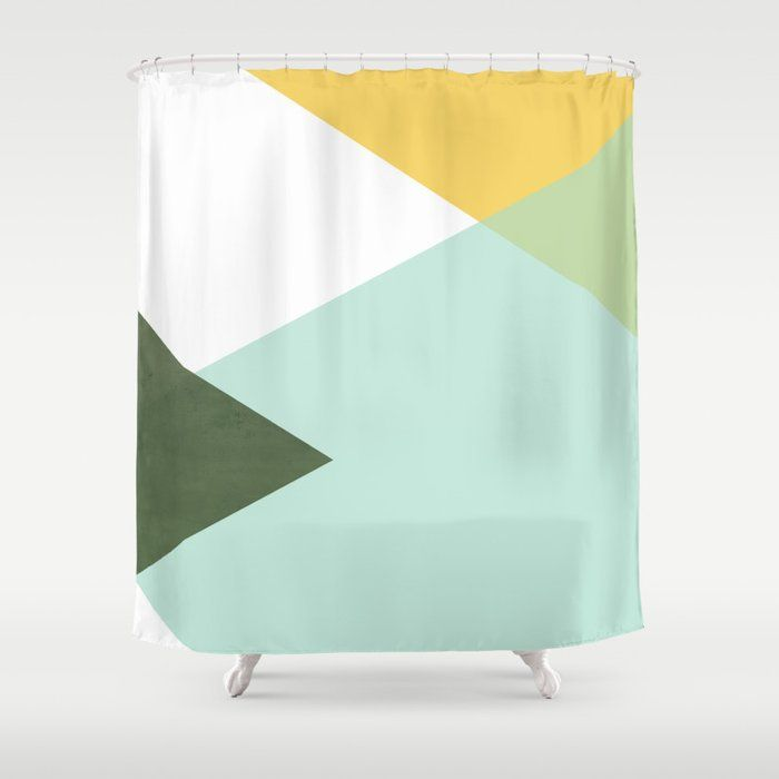 Buy Geometrics Citrus Concrete Shower Curtain By Galeswitzer