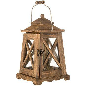 Small Brown Wood Lantern | Hobby Lobby | 1123926