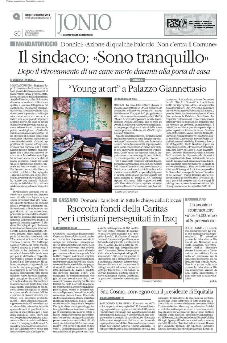 il 14 Dicembre 2014 ad Oriolo, Calabria!!