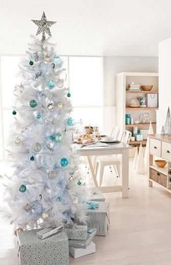 Como decorar árvore de natal branca - umComo #natal #decoraçãodenatal