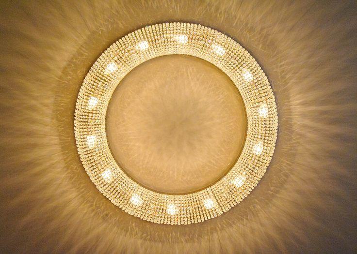 Bohemian crystal ceiling lights by ArtGlass Lighting #CrystalCeilingLight #LightingProject