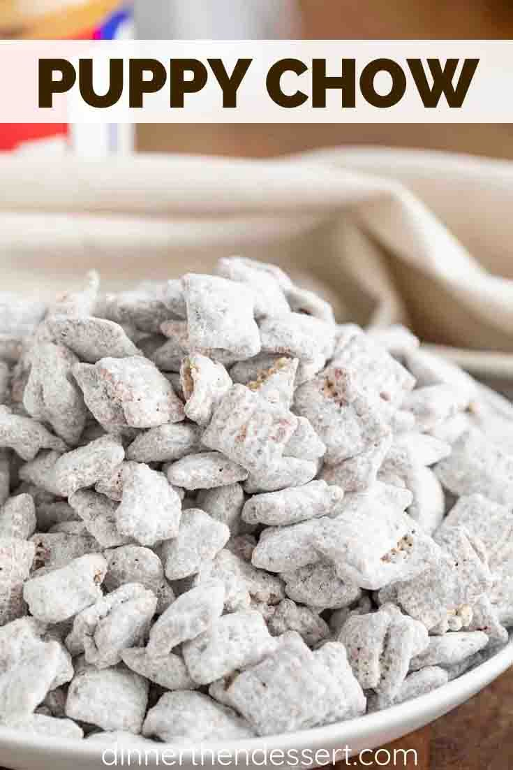 Puppy Chow Muddy Buddies Is The Perfect Sweet And Crunchy Party Snack Made With Only 4 Ingred Puppy Chow Recipes Chex Mix Recipes Puppy Chow Chex Mix Recipe