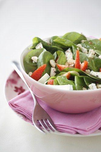 Salade d'épinards et de fraises : recette de salade d'épinards - Recettes légères : sélection de recette light, légère et facile