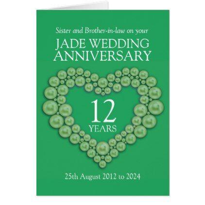 Jade Wedding Anniversary Sister Card Traditional Pinterest